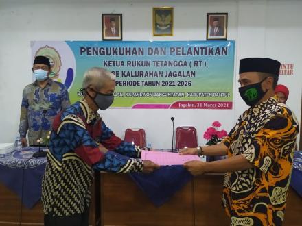 Pengukuhan dan Pelantikan Ketua Rukun Tetangga se Kalurahan Jagalan